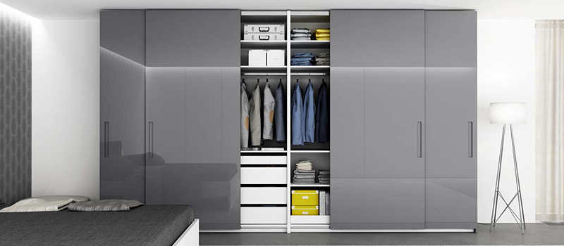 Black Gloss Wardrobe | Dream Furnishings