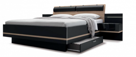 Nolte Mobel - Concept me 500 - 5970980 Bed Frame with Wooden Headboard and Neck Support