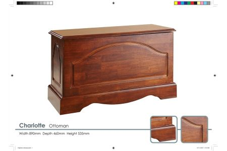 Charlotte Solid Wooden Ottoman