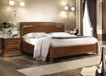 Camel Treviso Night Bed with Ring 180 cm