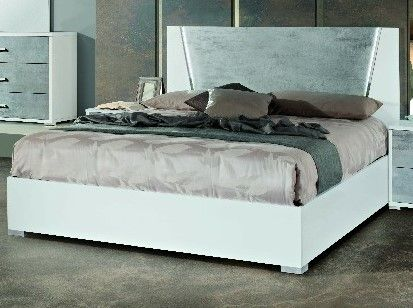 H2O Design Marlene White-Concrete Finish Bed