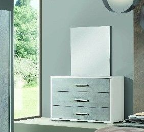 H2O Design Marlene White-Concrete Finish Dresser