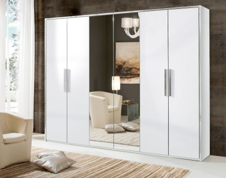 H2O Design San Marino White Hinged Wardrobe