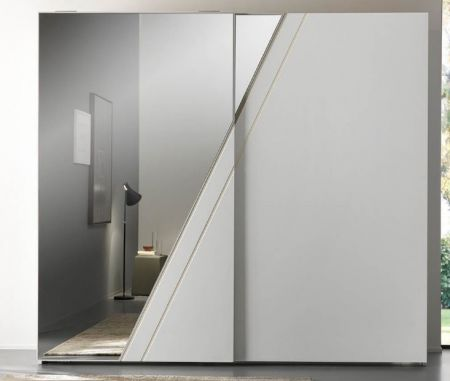 Euro Design Orizzonte 2 Door Sliding Wardrobe With Mirror