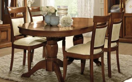 Camel Group Treviso Cherry Oval Extendable Dining Table with 2 Extensions