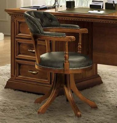 Camel Group Treviso Cherry Low back Swivel Chair - Ecoleather