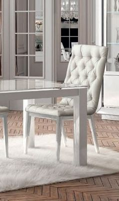 Camel Group Dama Bianca White Capitonne Dining Chair