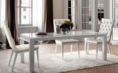 Camel Group Dama Bianca White High Gloss Dining Table