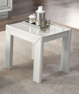 Camel Group Dama Bianca Tavolino White High Gloss Lamp Table