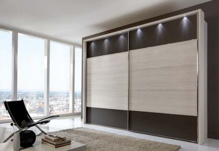 Weimann Hollywood 4 Sliding-door wardrobes with rows 1 and 5 highlighted