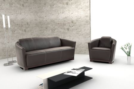 Calia Italia Hotel Leather Sofa