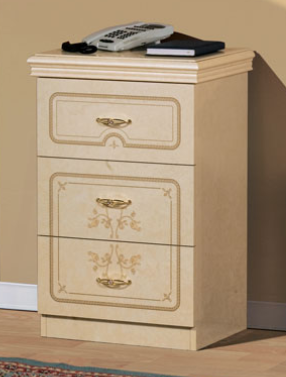 Saltarelli Florence Ivory 3 Drawer Night Stand