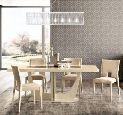Camel Group Ambra Curve Leg Dining Table