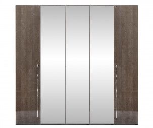 Camel Group Platinum Silver Birch 5 Door Mirror Wardrobe
