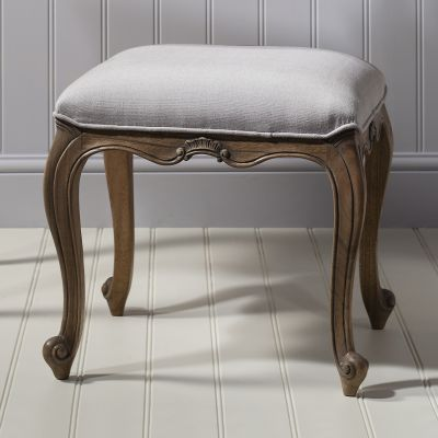 Frank Hudson Chic Dressing Stool Weathered