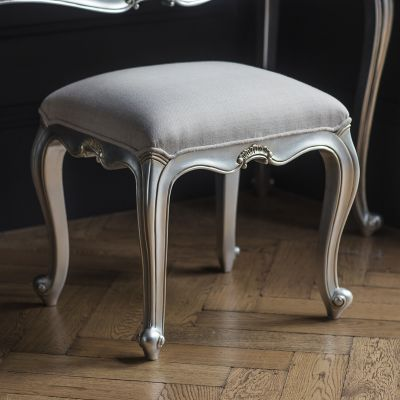 Frank Hudson Chic Dressing Stool Silver