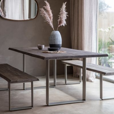 Hudson Living Huntington Dining Table Grey