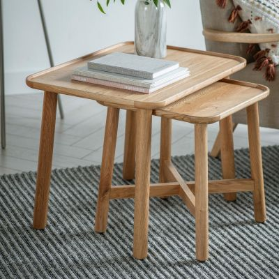 Hudson Living Kingham Nest Of 2 Tables and Grey