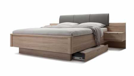 Nolte Mobel - Concept me 500 - 5970980 Bed Frame with Padded Headboard and Storage