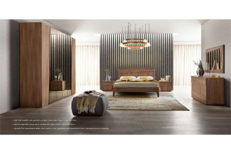 Camel Group Storm Walnut Finish Bedroom Group With Fold Bed Frame