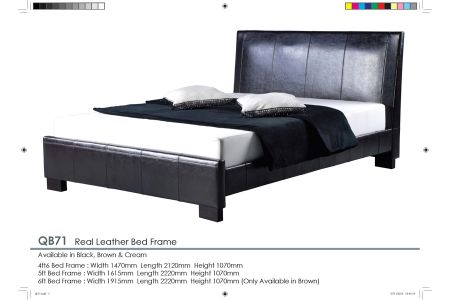 Quebec Leather bed