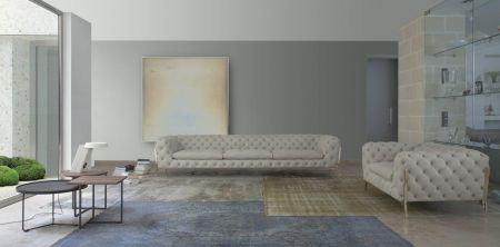 Calia Italia Belle Epoque Leather Sofa