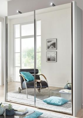 WIEMANN Miami Plus 2 Door Sliding wardrobes with 2 mirrored doors and Champagne colour Carcase