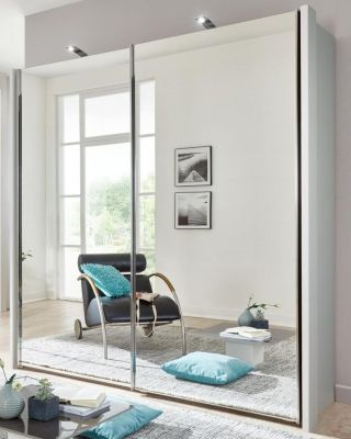 WIEMANN Miami Plus 2 Door Sliding wardrobes with mirrored doors and Champagne colour Carcase