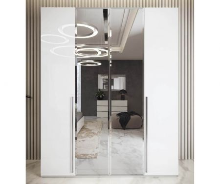 Camel Group Alba Night Wardrode with Mirrored Doors
