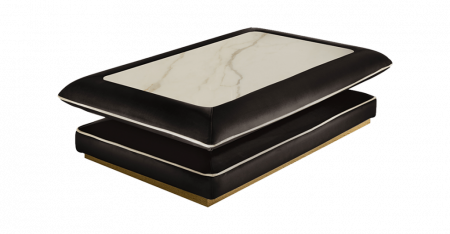 Arredoclassic Adora Allure Square Coffee Table with Top in Stonewear