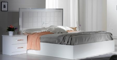 Ben Company Ambra White Bed