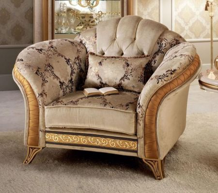 Arredoclassic Melodia Button Back Armchair