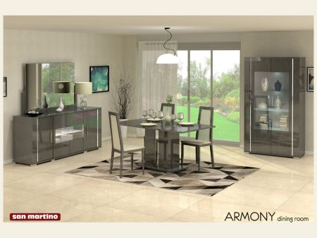 San Martino Armony Grey Extending Dining Set With 4x 'Sorrento' Chairs