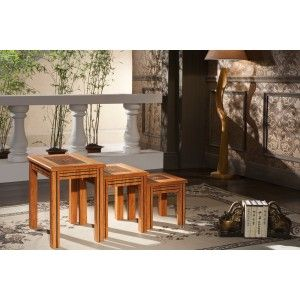 Banana Nest Of Tables (Set Of 3)