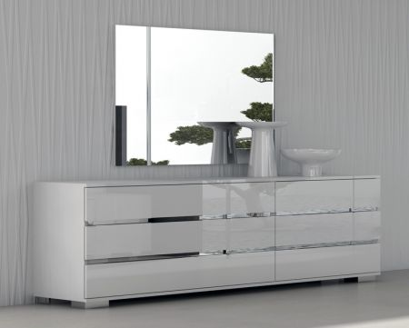 Status Dream Double Dresser In White High Gloss