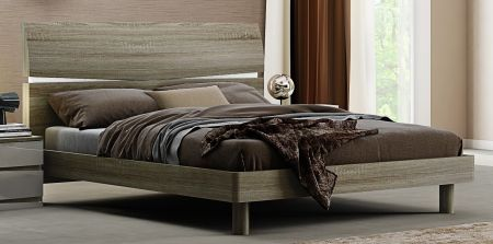 Hayley Cashmere High Gloss and Havana Oak Bed