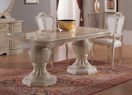 Ben Company Betty Beige Rectangular Dining Table