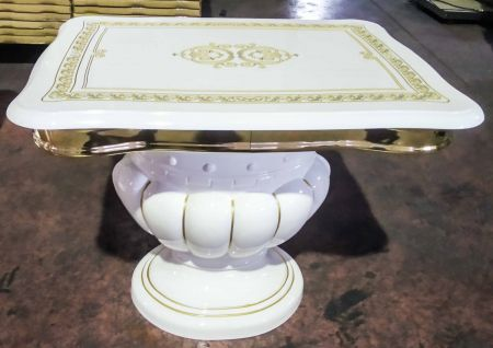 Ben Company Betty White Gold lamp table