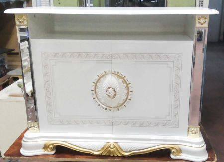 Ben Company Betty White Gold TV Stand