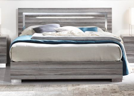 San Martino Beverly High Gloss Bed Frame With LED Light