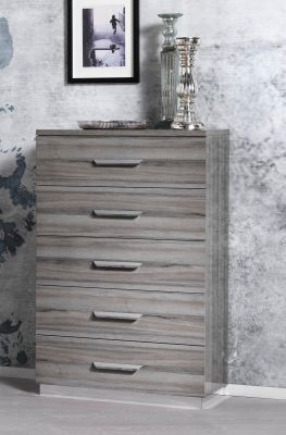 San Martino Beverly High Gloss Tall Chest