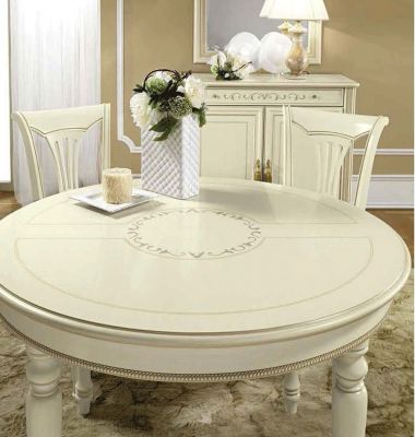 Camel Group Siena Ivory Round Dining table with 1 Extension