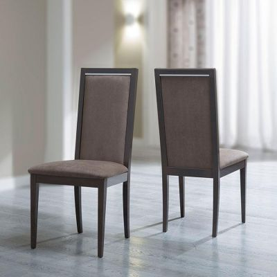 Camel Group Platinum Silver Birch Finish Liscia Dining Chair