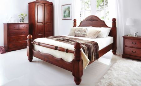 Charlotte Solid Wooden Bedroom Group In Dark Oak