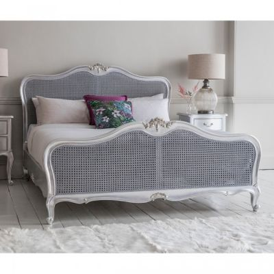 Hudson Living Chic 5 Cane Bed Silver