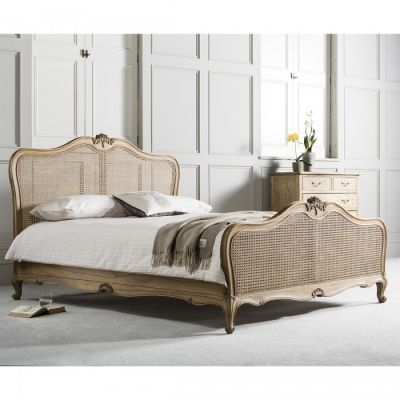 Hudson Living Chic 6 Cane Bed Weathered