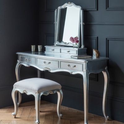 Hudson Living Chic Dressing Table Silver