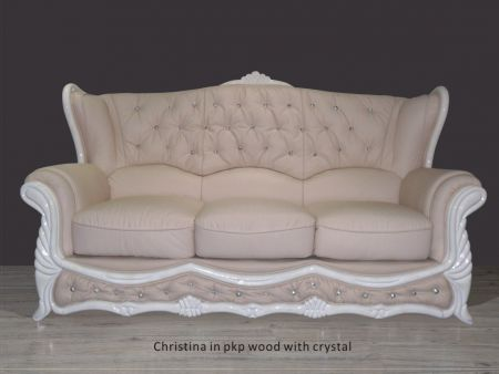 Christina Sofa With Crystal