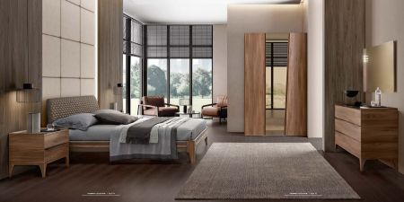 Camel Group Akademy Bedroom Group With Eco Leather Ring Bed Frame