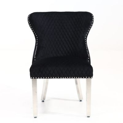 Valentino Black Velvet Dining Chair